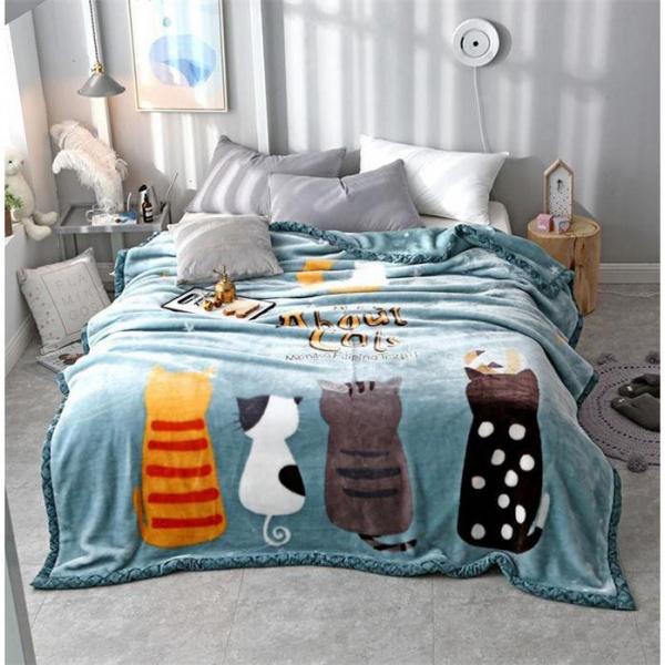 【冬天需要蓋毛毯】雙層毛毯(小)
